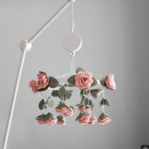 Pottery Barn Felted Rose Mobile & Arm